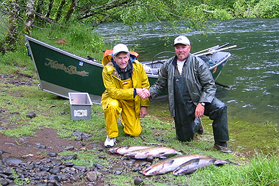 McKenzie River Spring Chinook, May 18th, 2004.  Oregon Salmon Fishing