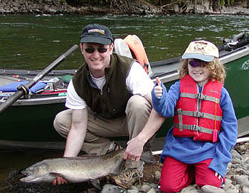 Steve and Conner's Mckenzie River Spring Chinook! June 4th 2005