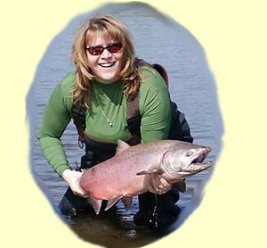Jerri-Jo and her First King Salmon!